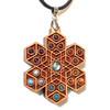 Cube Expansion Gemstone Grid Talisman - Cherry with Labradorite, Garnet, Amethyst, Carnelian, Sunstone, Green Onyx and Larimar