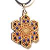 'Cube Expansion' Gemstone Grid Talisman - Maple with Lapis Lazuli and Garnet