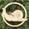 Patient Snail Ornament by Julie Banwellund