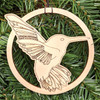 Joyful Hummingbird Ornament by Julie Banwellund