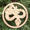 Cunning Snake Ornament by Julie Banwellund