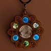 LED Gemstone Talisman Pendant - Sound Reactive - Maple with Prehnite, Apatite and Moss Agate