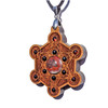 Metatrons Cube Talisman - Crazy Lace Agate, Black Onyx & Garnet on Cherry