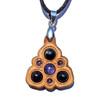 Trinity Mini Grid Talisman - Tanzanite, Black Star Diopside & Black Onyx on Maple