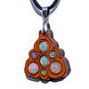 Trinity Mini Grid Talisman - Ethiopian Opal on Cherry