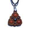 Trinity Mini Grid Talisman - Hematite & Goldstone on Walnut
