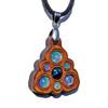 Trinity Mini Grid Talisman - Black Opal & Ethiopian Opal on Cherry