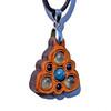 Trinity Mini Grid Talisman - Apatite, Sodalite & Prehnite on Cherry