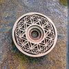 Flower of Life Orb Sphere Stand - with optional Selenite Sphere