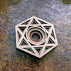 Star Tetrahedron Hexagon Sphere Stand - with optional Selenite Sphere