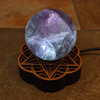 With Fluorite Sphere (not included)