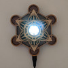 Metatron's Cube LED Crystal / Sphere Stand - with optional Selenite Sphere
