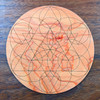 Sacral Chakra Crystal Grid - Birch Plywood - Choose your size!