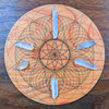Crown Chakra Crystal Grid - Birch Plywood - Choose your size!