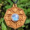 Sale! Phases of Consciousness Rainbow Moonstone Pendant