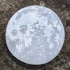 "Sale! Realistic Moon Selenite Engraving - Small 3"""