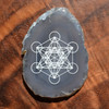 Metatrons Cube Design - Laser Engraved Agate