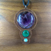 Amethyst, Malachite, Mother of Pearl on Walnut Hardwood