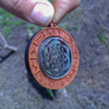 Carved Seed of Life Mother of Pearl Zodiac Portal Hardwood 30mm Abalone Gemstone Pendant