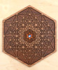 Harmonic Resonance Hardwood Wall Art - 10in - 12mm Rainbow Moonstone