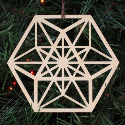 Vector Equilibrium Ornament - Sacred Geometry - Laser Cut Wood