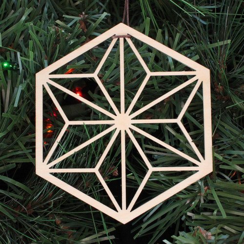 Asanoha Hexagon Ornament - Sacred Geometry - Laser Cut Wood