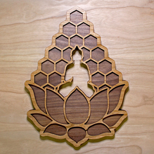 Meditation Lotus Two Layer Wall Art