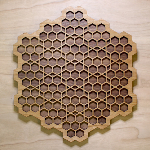 Honeycomb Grid Two Layer Wall Art