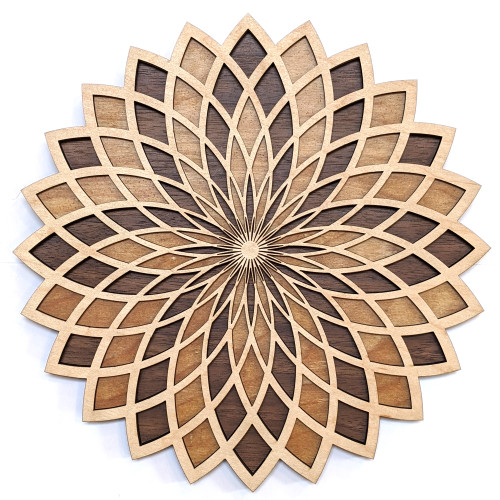 Torus Flower 3 Layer Wall Art - Maple, Birch, Walnut