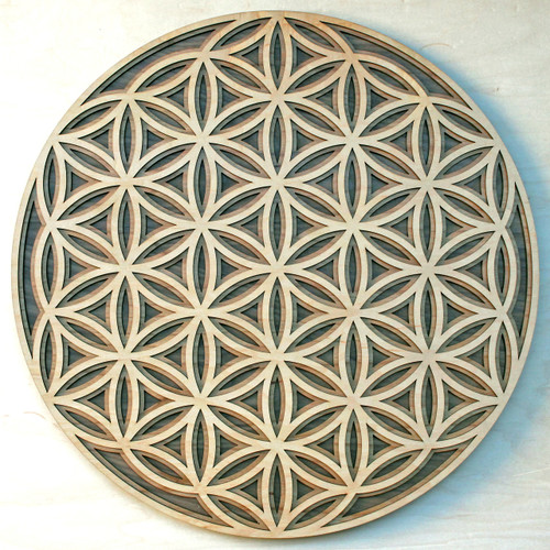 Flower of Life - Maple, Birch, Walnut 3 Layer Wall Art