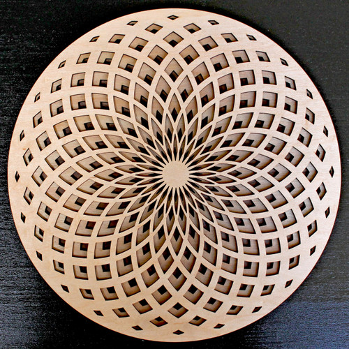 Torus Fade Three Layer Wall Art - Maple, Birch, Walnut