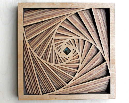 "10"" Square Vortex 10 Layer Wall Art"