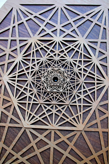 Metatron's Tesseract  - Dimensional Hardwood Wall Art