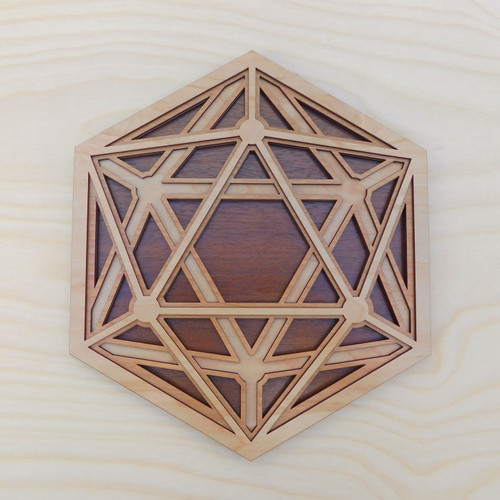 Dimensional Icosahedron Four Layer Wall Art