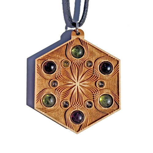 Vibrational Seed Gemstone Talisman - Peridot and Garnet