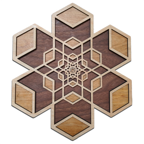 Cube Expansion Three Layer Wall Art - Maple, Birch, Walnut