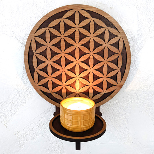 Simple Flower of Life Wall Art - Shelf/Sconce