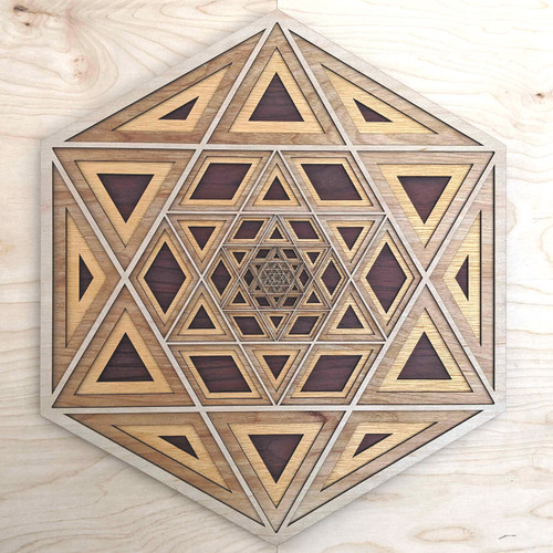 Inner Star Four Layer Wall Art