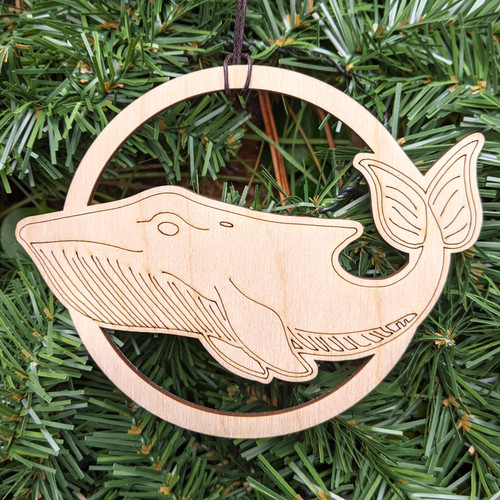 Conscious Whale Ornament by Julie Banwellund