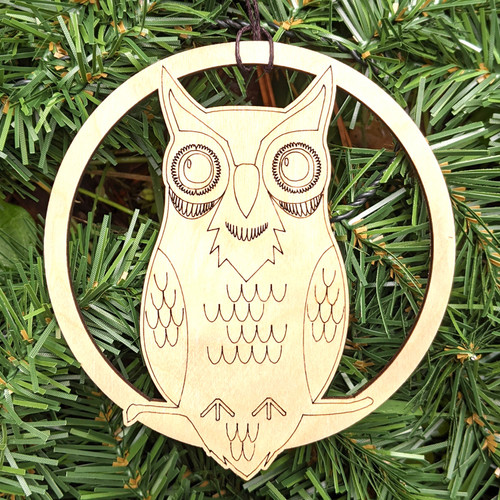 Wise Owl Ornament by Julie Banwellund