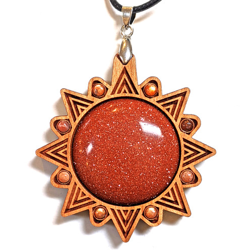 Cherry with Goldstone and Sunstone