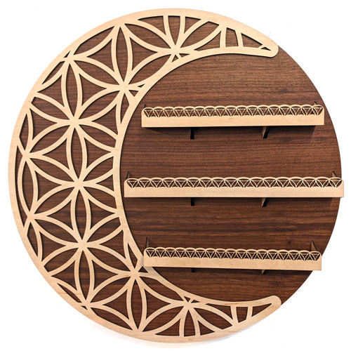 Crescent Moon Flower of Life Wall Shelves by Julie Banwellund
