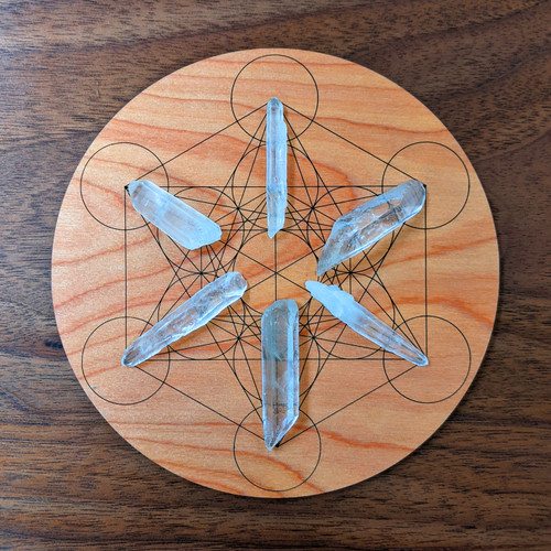 Metatron's Cube Crystal Grid - Birch Plywood - Choose your size!