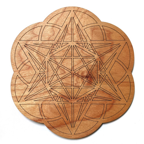 Starseed Crystal Grid - Birch Plywood - Choose your size!