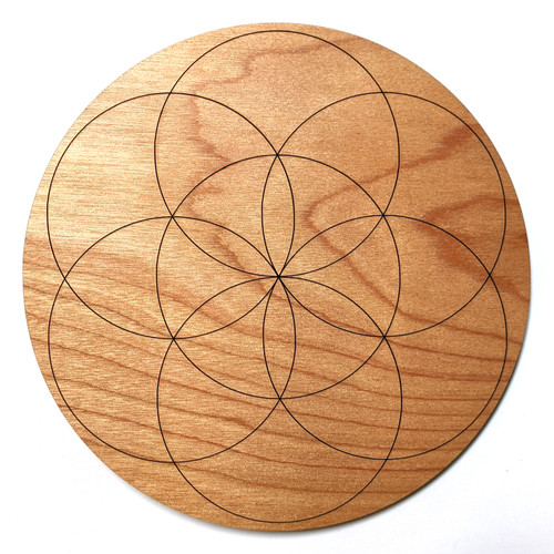 Seed of Life Crystal Grid - Birch Plywood - Choose your size!