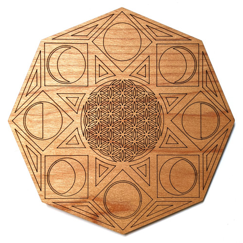 Phases of Consciousness Crystal Grid - Birch Plywood - Choose your size!