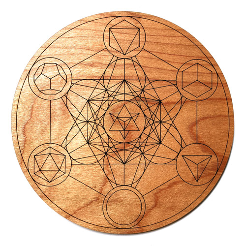 Platonic Solids Metatron's Cube Crystal Grid - Birch Plywood - Choose your size!