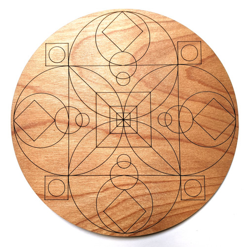 Root Chakra Crystal Grid - Birch Plywood - Choose your size!