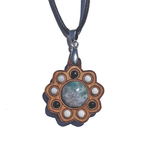 Mini Gemstone Cluster Talisman with Indian Agate, Dendritic Agate and Black Onyx