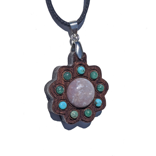 Mini Gemstone Cluster Talisman with Indian Agate, Moss Agate & Turquoise